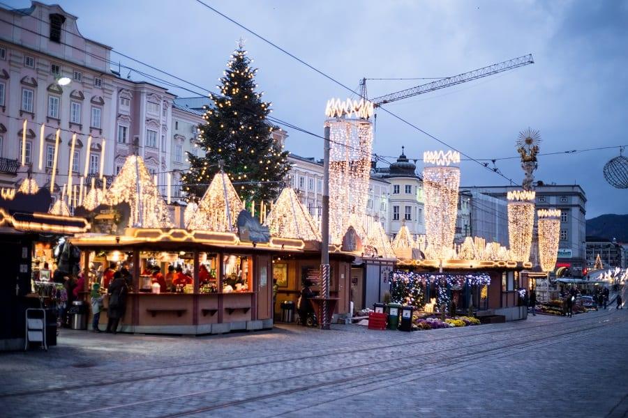 Winter in Linz Christkindlmarkt