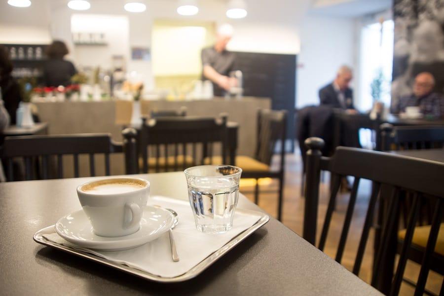 Kaffeehaus Linz Viele Leute Kaffee Café Koffein