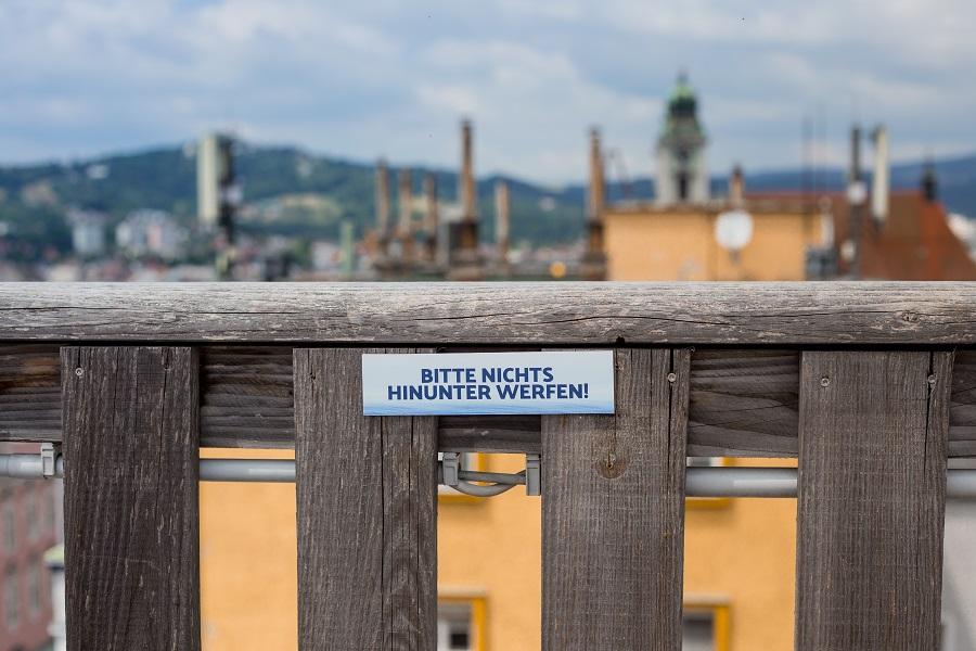 Am Dach beim Höhenrausch in Linz
