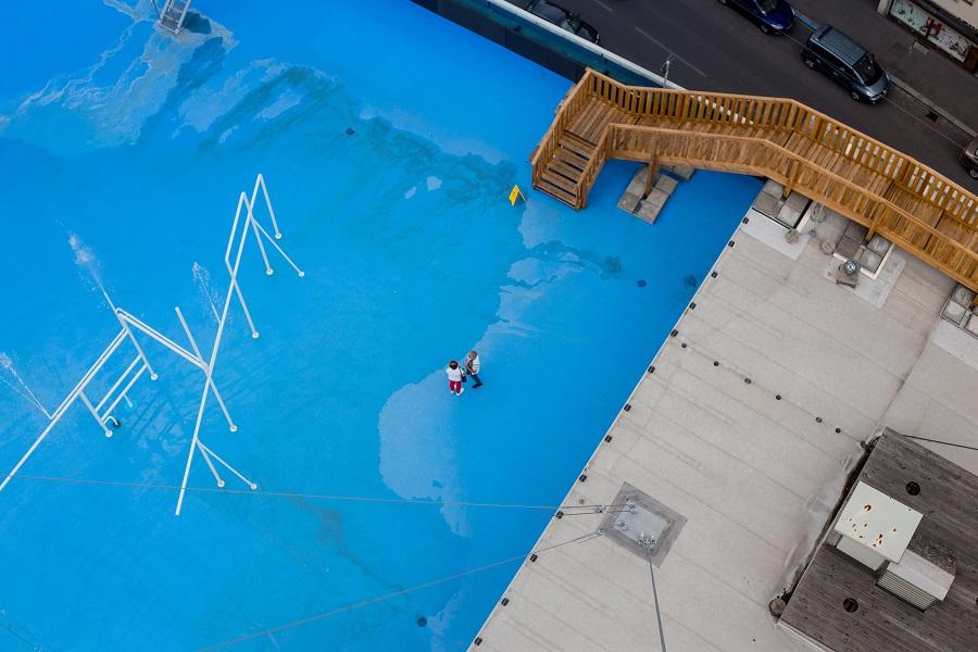 Wasserspiele beim Hoehenrausch Linz