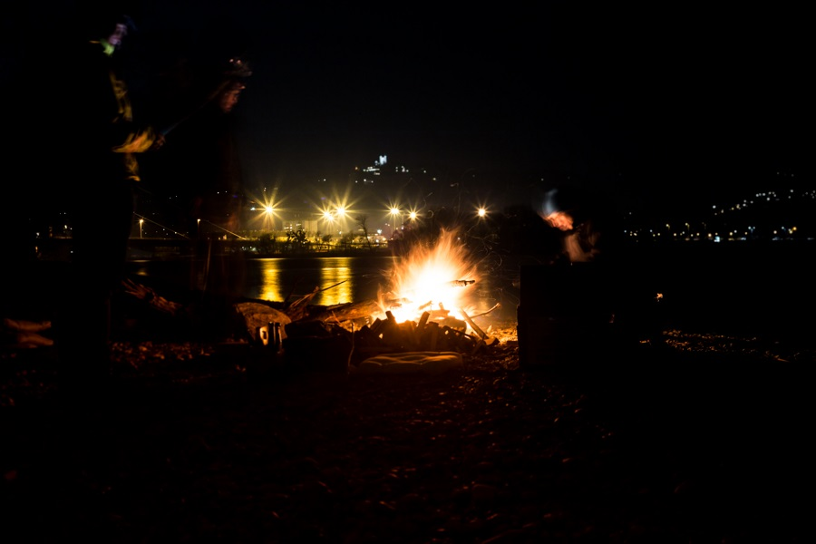 Lagerfeuer in Linz