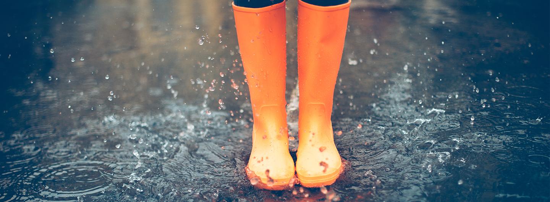 Regen in Linz
