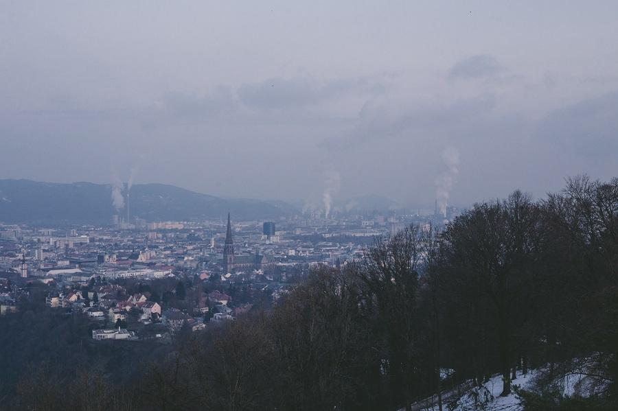 Aussicht von der Franz-Josefs-Warte Linz