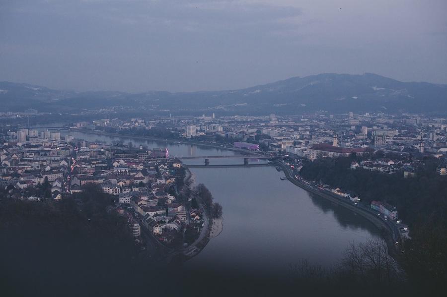 Donau von der Franz-Josefs-Warte Linz