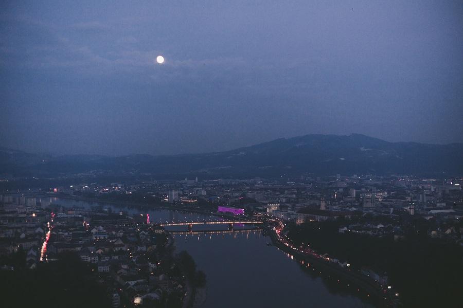 Vollmond von der Franz-Josefs-Warte Linz