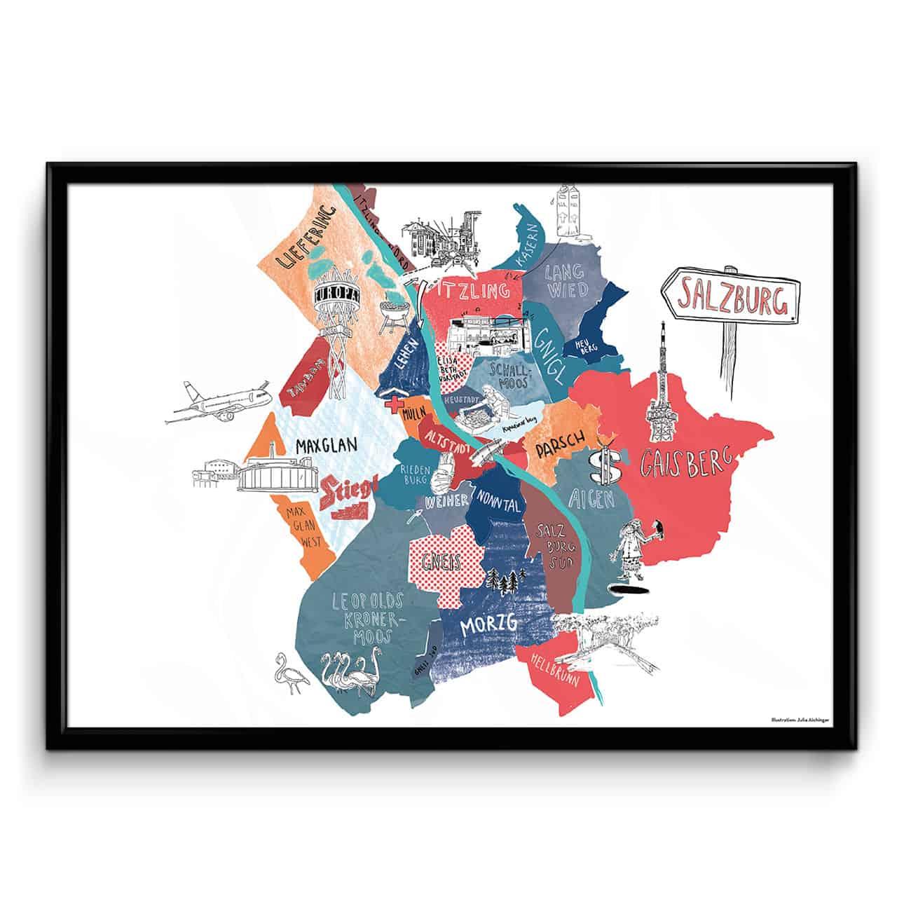 Stadtplan von Salzburg